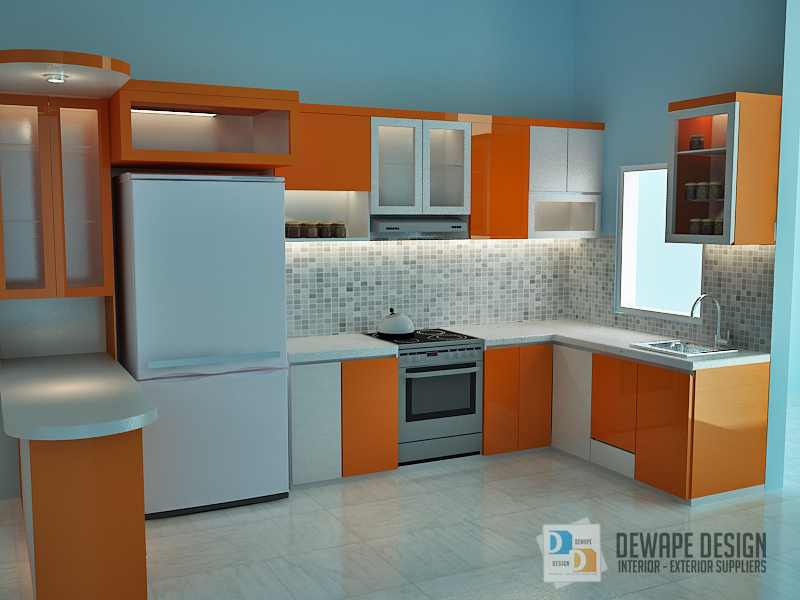 Kitchen Set Nuansa Orange Di Malang