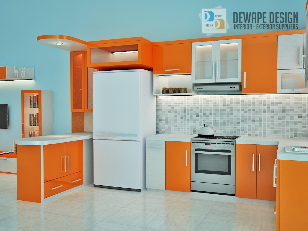 Kitchen Set Berwarna Orange