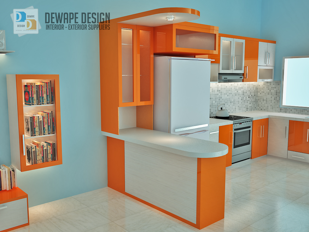 Kitchen Set Minimalis Warna Orange Malang