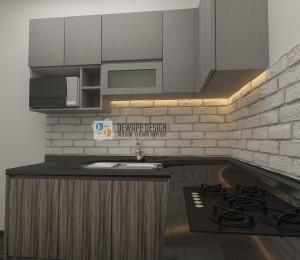 Desain dapur kecil minimalis di Malang